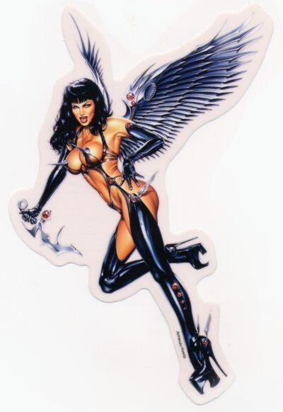 Huerta Angel Of Death Goth Warrior Sticker Car Decal Ebay